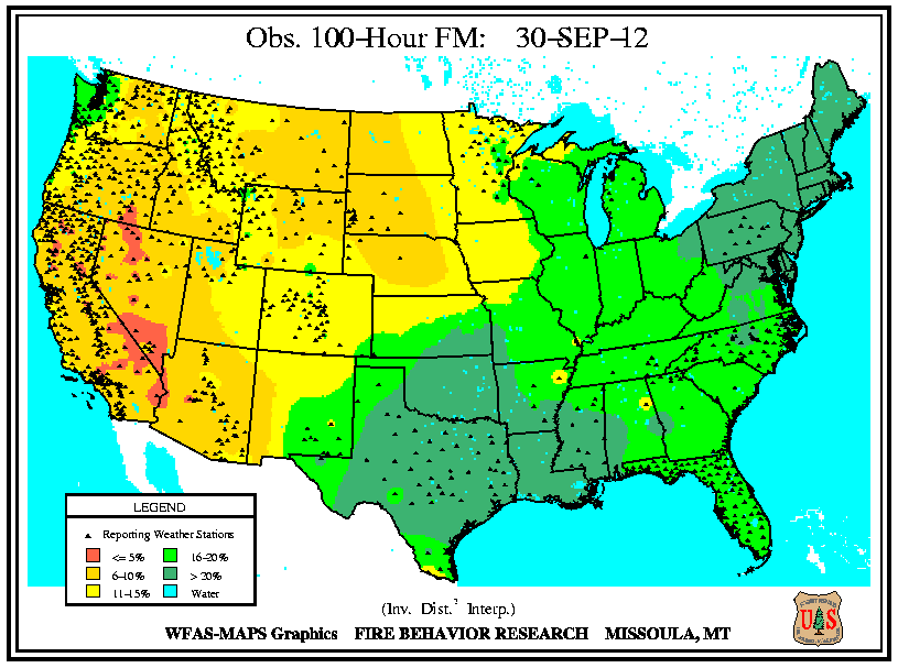 Montana Fire Map 2016.Wildfires September 2012 State Of The Climate National Centers