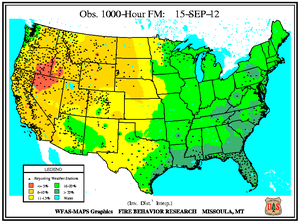 1000-hr Fuel Moisture Map for September 15