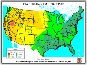 1000-hr Fuel Moisture Map for September 30
