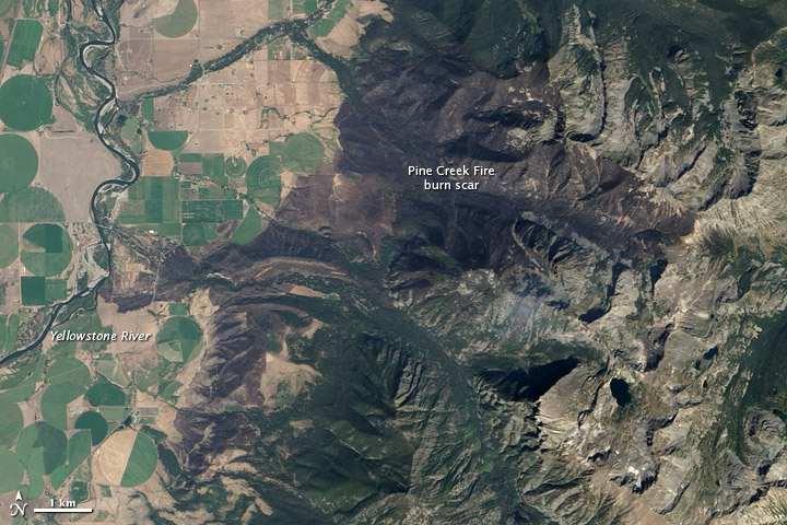 Montana Burn Scar for Pink Creek Fire on 7 September 2012