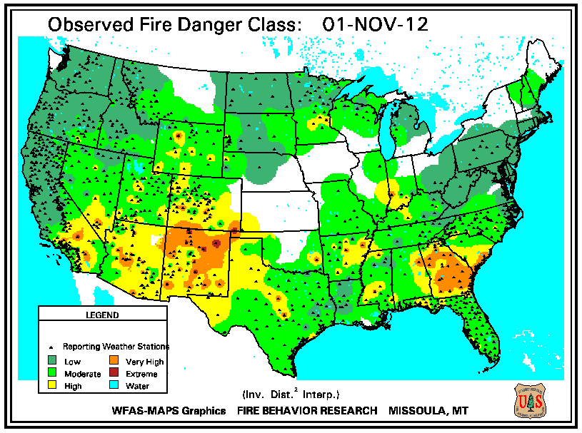 Wildfires November State Of The Climate National - Us forest service fire map in tennessee