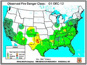 Fire Danger Map for December 1