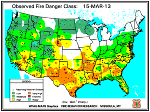 Collier County Wildfire Map.Wildfires March 2013 State Of The Climate National Centers For
