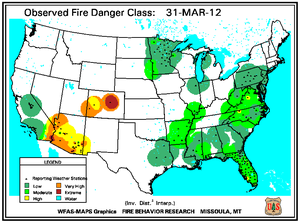 Fire Danger Map for March 31