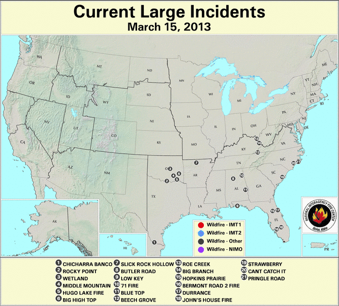 Wildfires march 2013 state of the climate national for Croatan national forest cabins