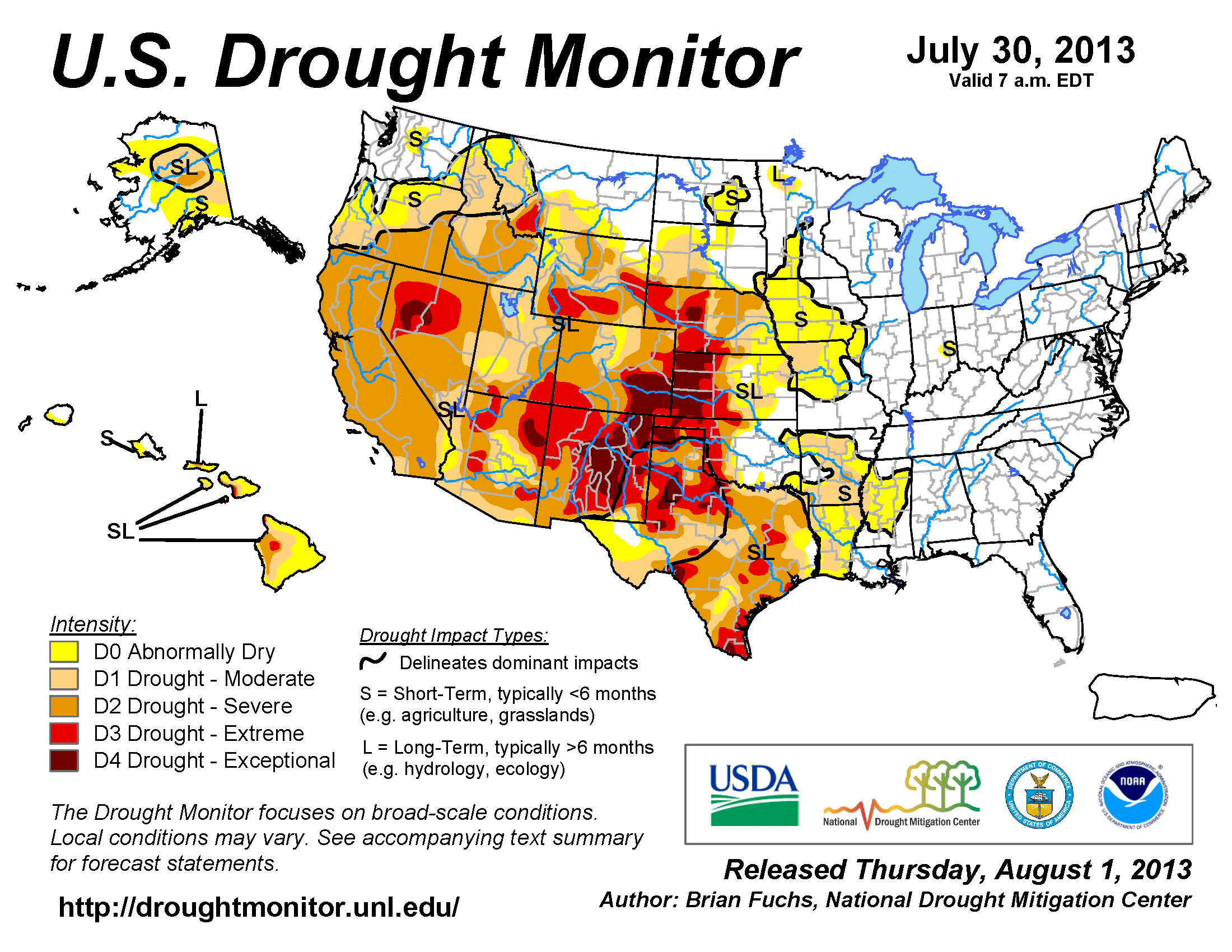 Wildfires July State Of The Climate National Centers - Us drought map forecast