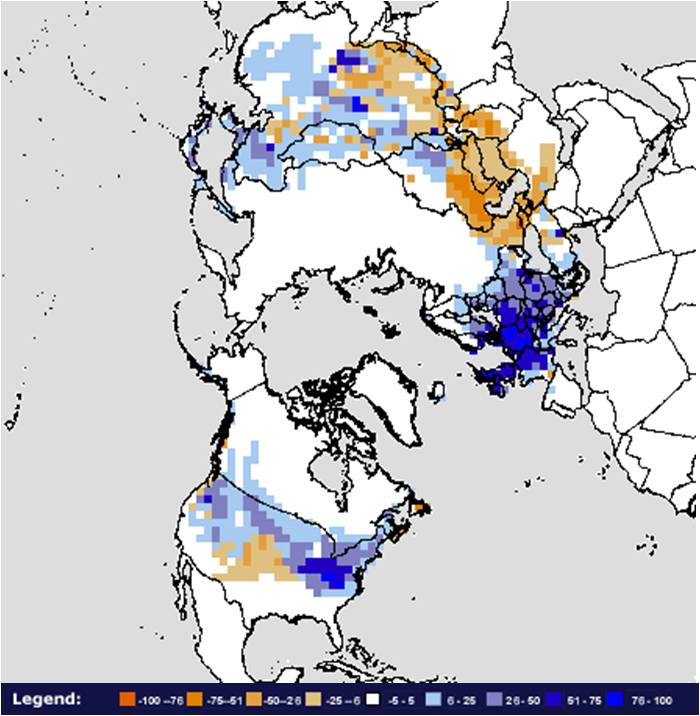 Snow Cover Map Europe.Global Snow And Ice December 2010 State Of The Climate