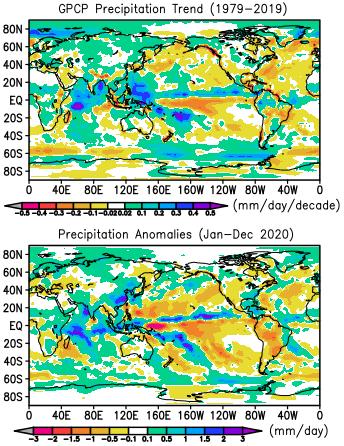 GPCP precipitation trends
