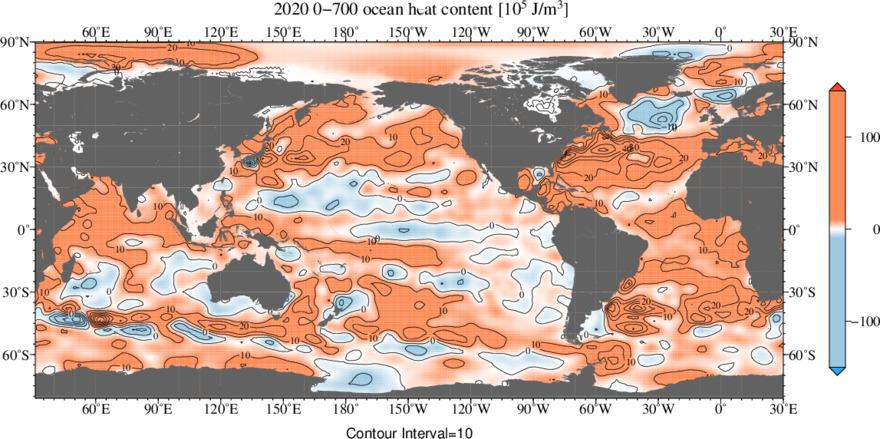 2020 Heat Content 0-700 m