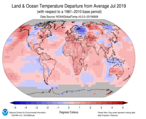 Global Land & Ocean Mean Temp Anomaly Map