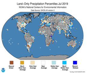 Global Land Precip Percentile Map