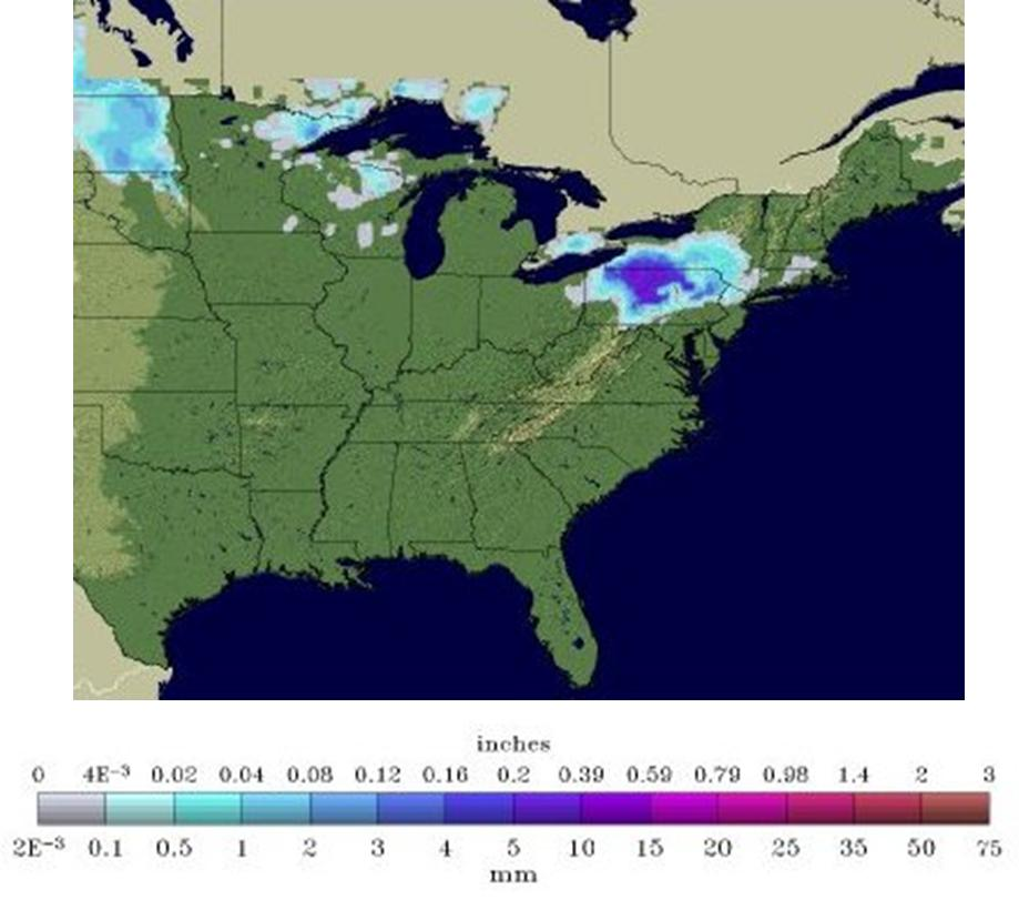 US Snowcover 17 Oct.