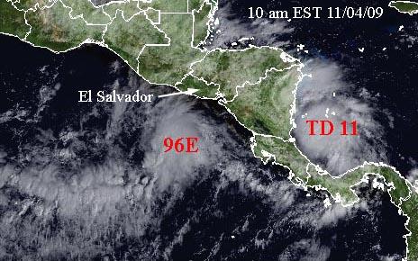 Global Hazards November State Of The Climate National - Satellite image photo of el salvador