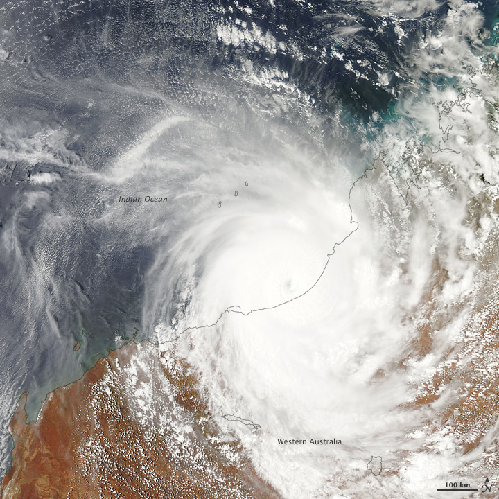 Tropical Cyclone Laurence on December 21st