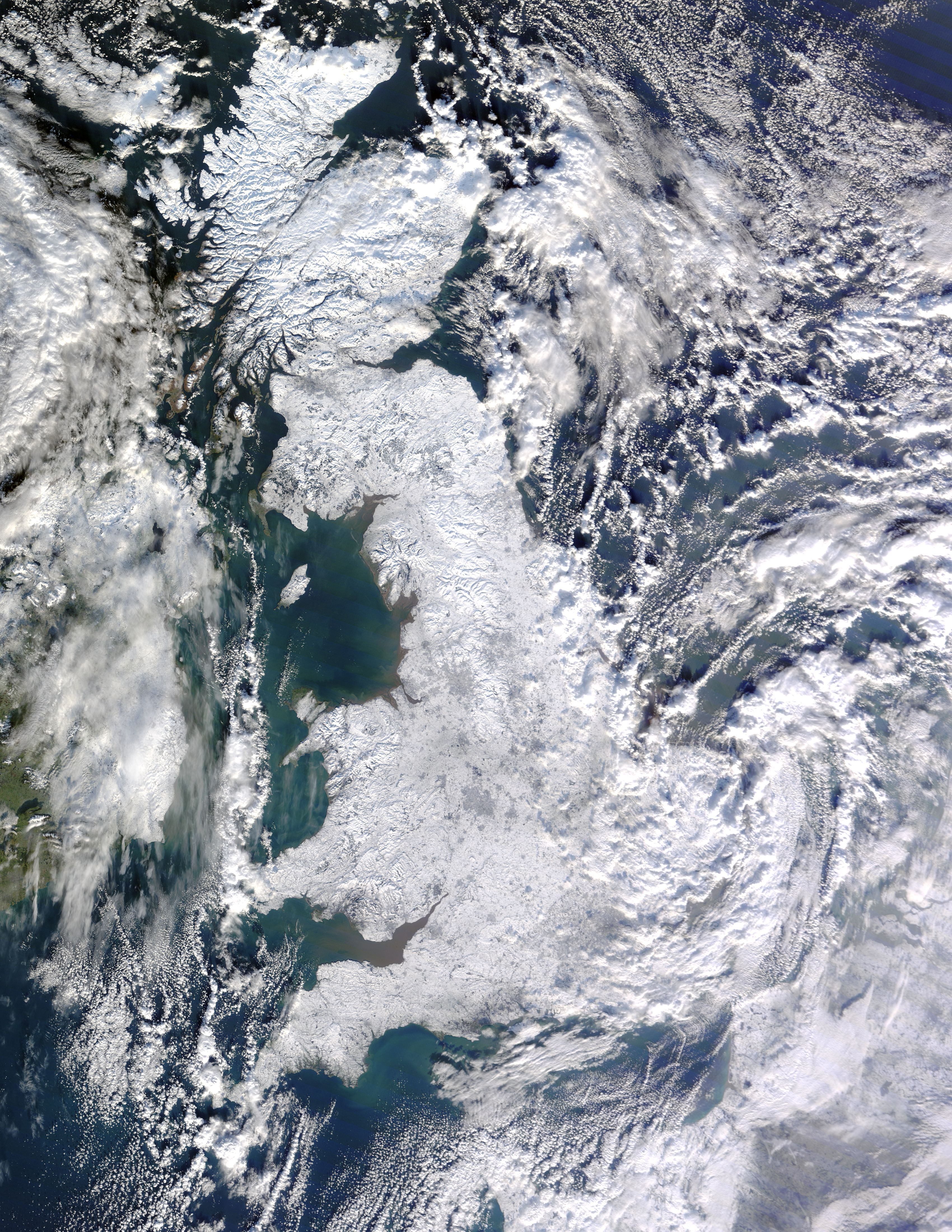 Britain Snow Cover