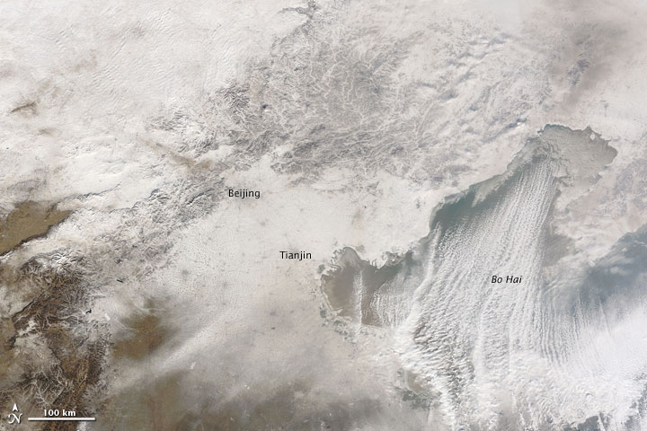 East China Snow Cover 4 January 2010