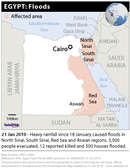 Egypt Flooding Locations
