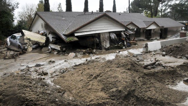 Southern Californnia Mudslides on 6 February 2010