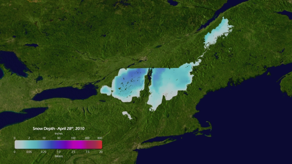 New England Snowfall Totals for 28 April 2010