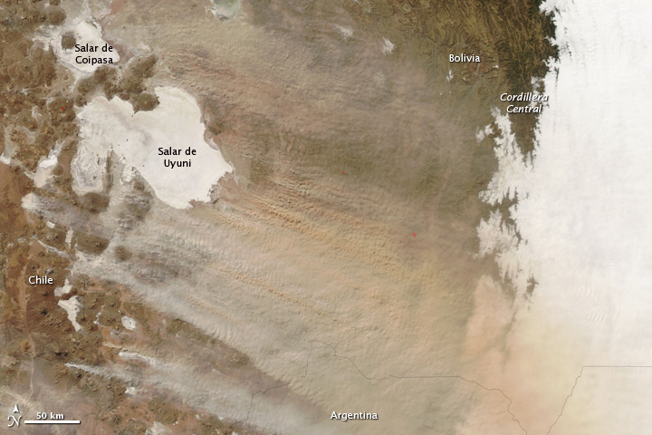 Dust storm due to Bolivian Drought