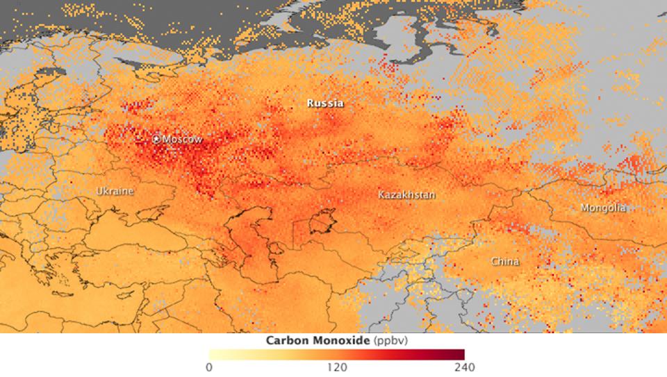 Russian Air Quality in Early August