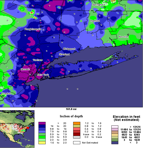 26–27 December 2010 snowfall totals across the northeastern U.S.