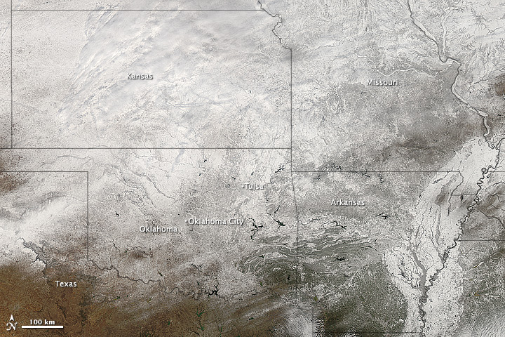 Southern U.S. Snow Cover