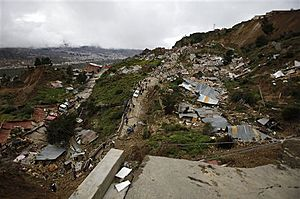 Photo of La Paz, Bolivia Landslide