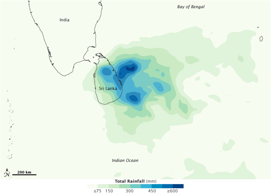 Sri Lankan Rainfall 1-6 Feb