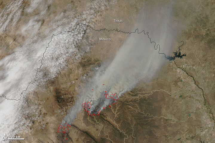 Satellite Image of Mexico Fires