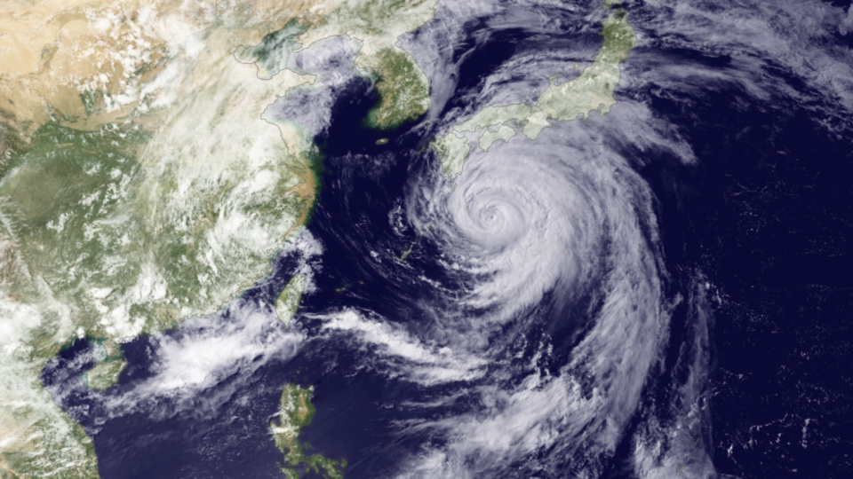 Category 2 Typhoon Ma-on moving towards southern Japan on 18 July 2011