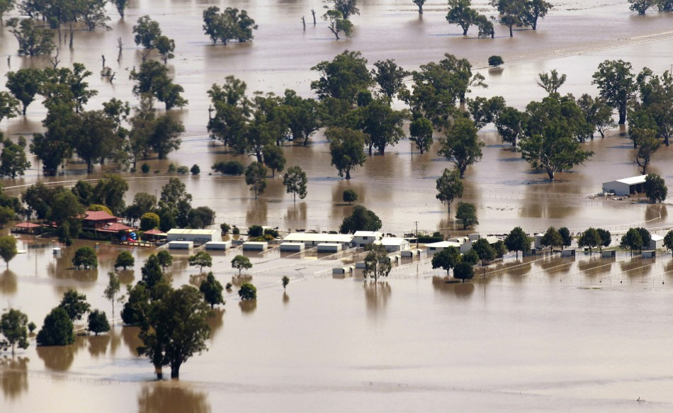 Regions of Wagga Wagga submerged in New South Wales, Australia on 06 March 2012