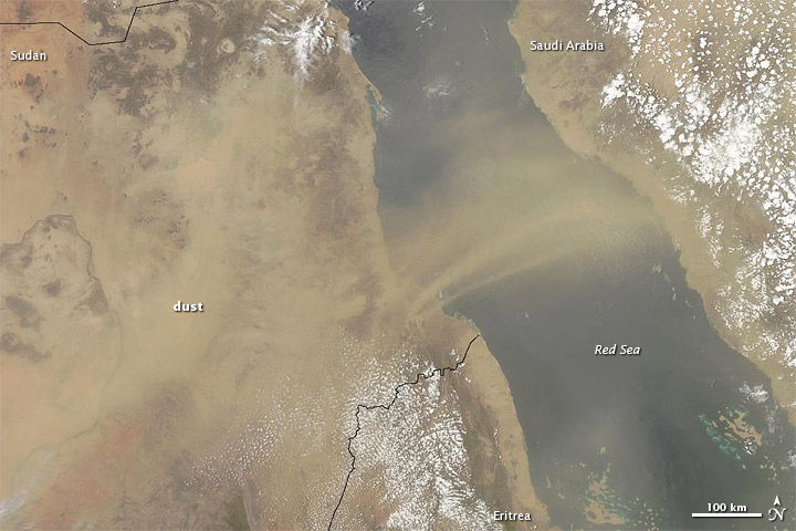 Dust Plume crossing Red Sea on 26 July 2012