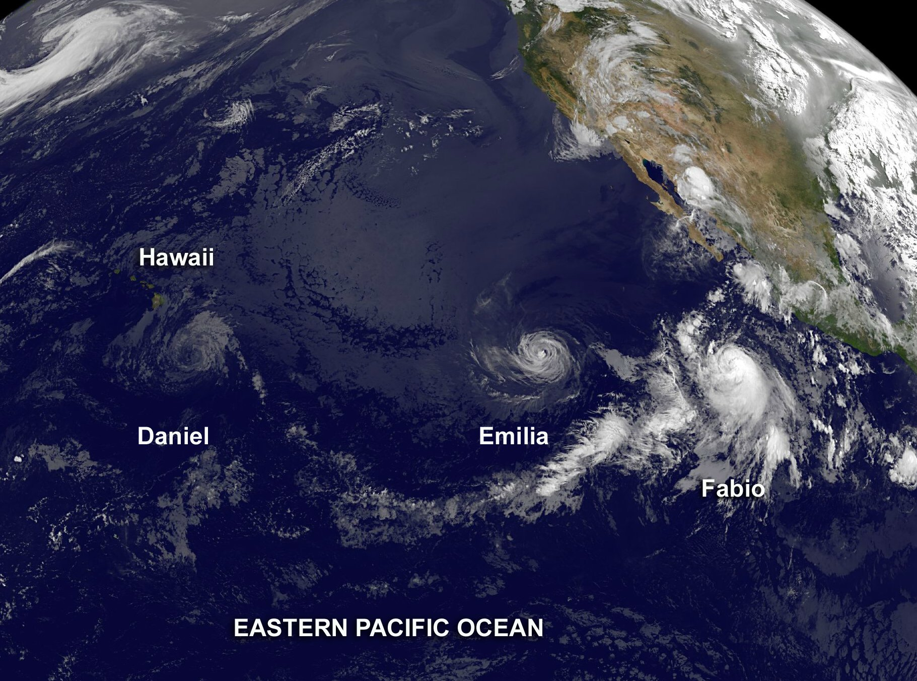 Eastern Pacific Hurricanes on 13 July 2012