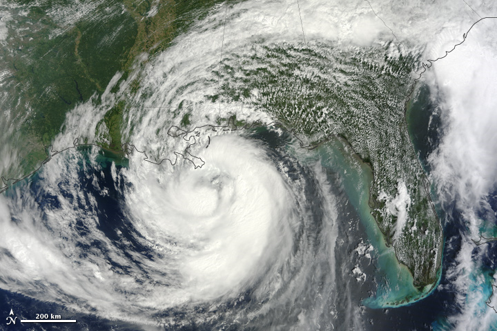 Hurricane Isaac's strengthened in Gulf of Mexico on 28 Aug 2012