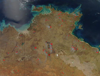 Australian Burn Scars on 18 September 2012 on 18 September 2012