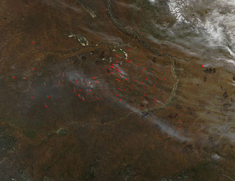 Russian Wildfires on 23 September 2012