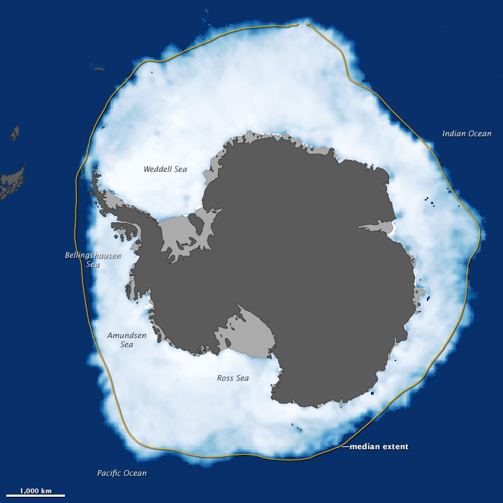 Antarctic sea ice extent during September 2012