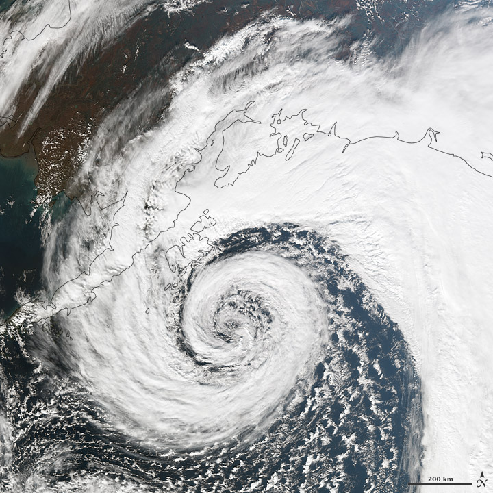 Extratropical Cyclone off southern Alaska coast on 26 Sep 2012