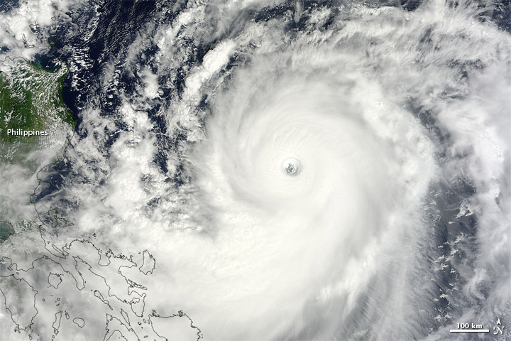 Typhoon Jelawat over Philippine Sea on 25 Sep 2012
