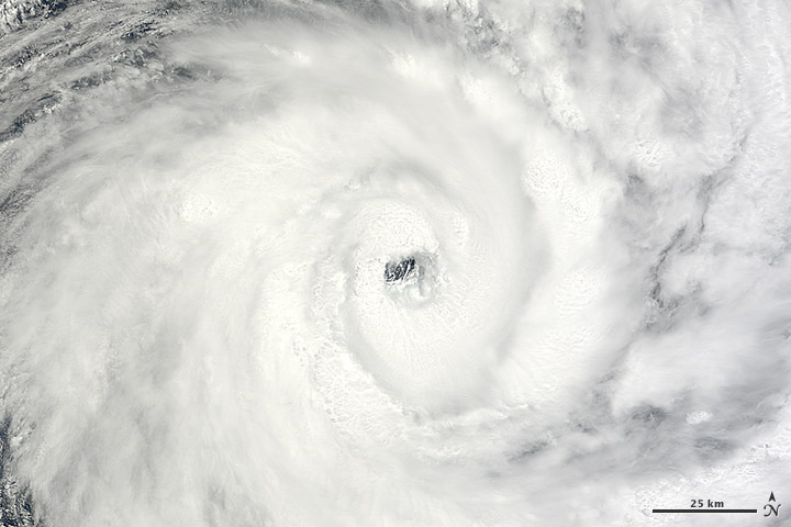 Early Hurricane Anais neared Madagascar on 14 October 2012