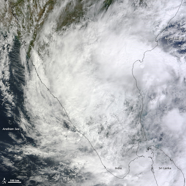 Tropical Storm Nilam crossed North Indian Ocean on 01 November 2012