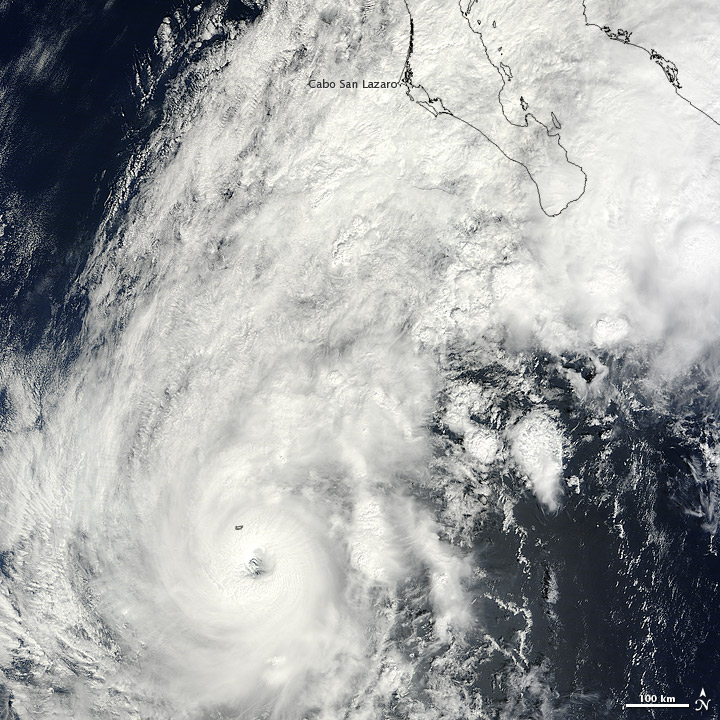 Hurricane Paul neared Mexico on 15 October 2012