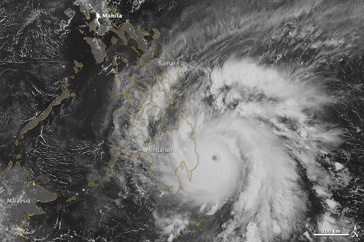 Typhoon Bopha lashed Philippines on 03 December 2012