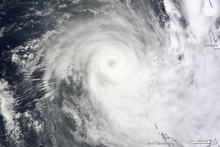 Tropical Storm Freda neared New Caledonia on 30 December 2012