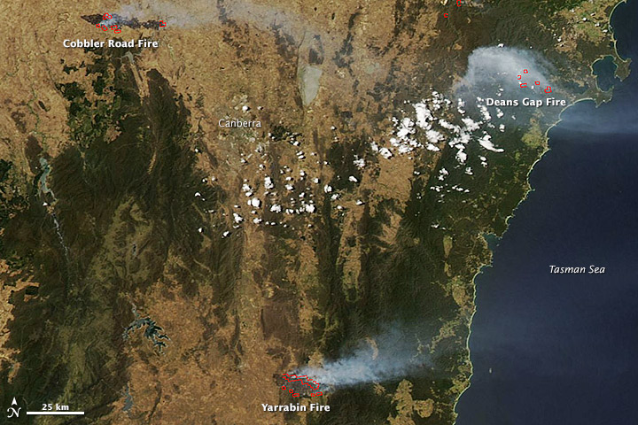 New South Wales Fires in Australia during January 2013