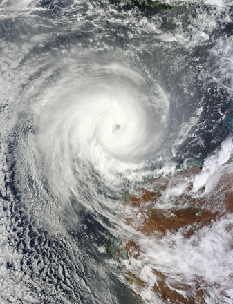 Tropical Cyclone Narelle off western Australia on 11 January 2013