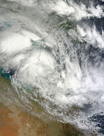 Tropical Cyclone Oswald inundated northeastern Australia on 22 January 2013