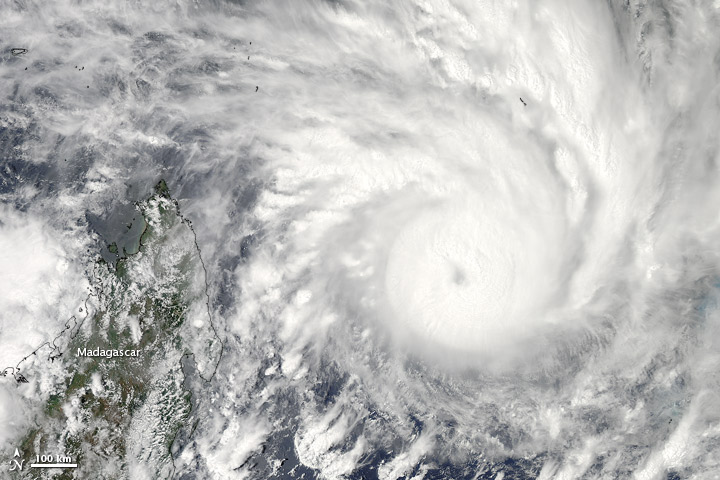 Tropical Cyclone Felleng neared Madagascar on 29 January 2013