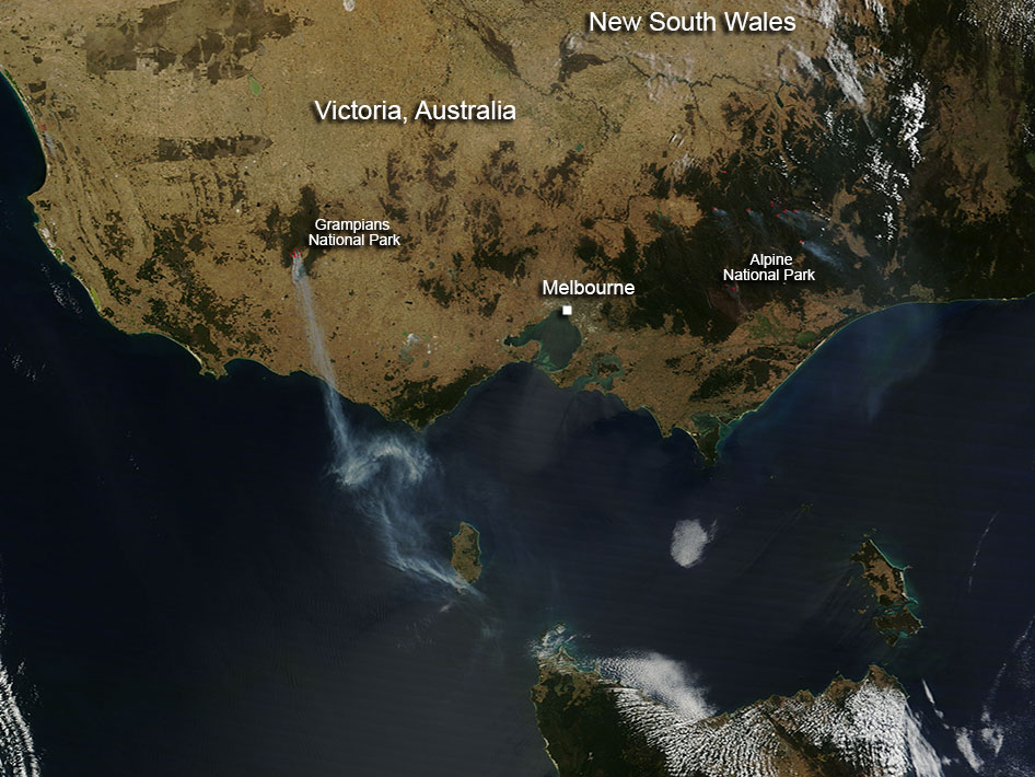 Victoria Fires in Australia during February 2013